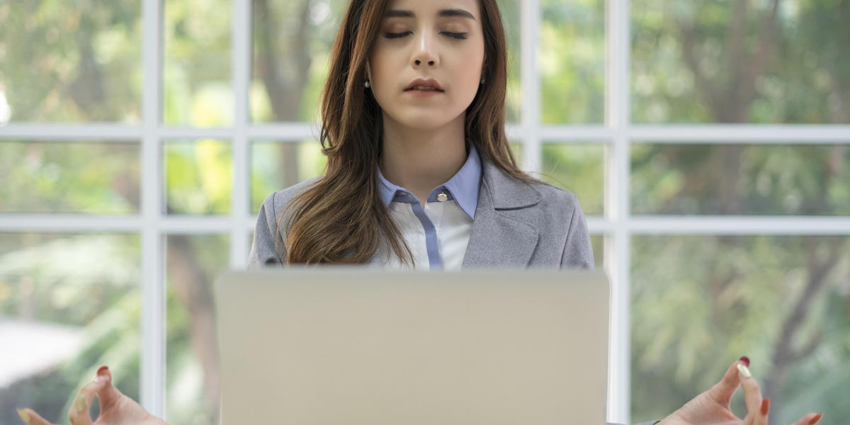 Woman in Front of Computer