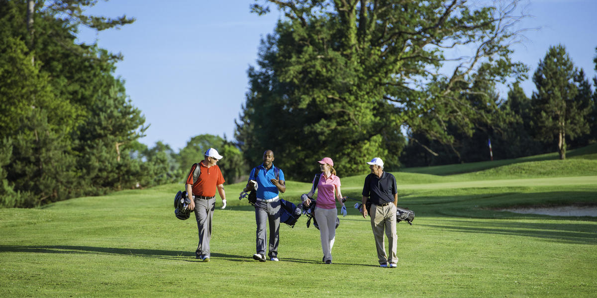 Group of Golfers Walking